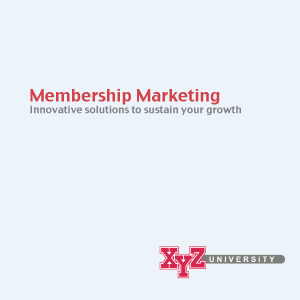 Membership Marketing for Associations
