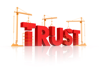 cranes building the word trust