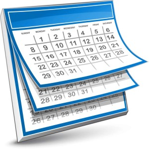 Calendar flipping pages