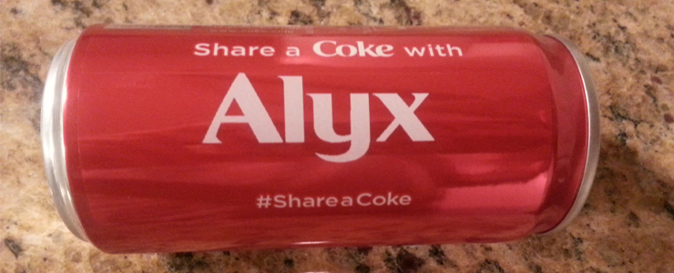 alyx on share a coke can