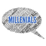 MILLENIALS word speech bubble