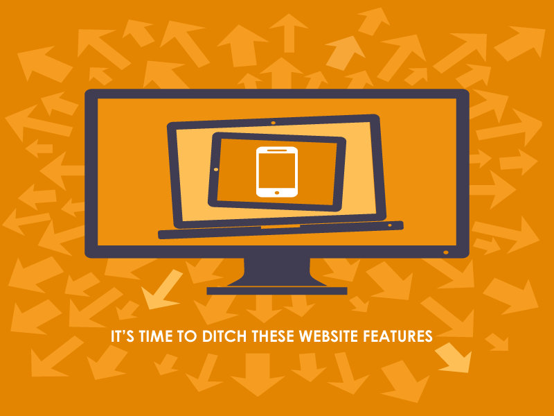 Responsive web design with arrows