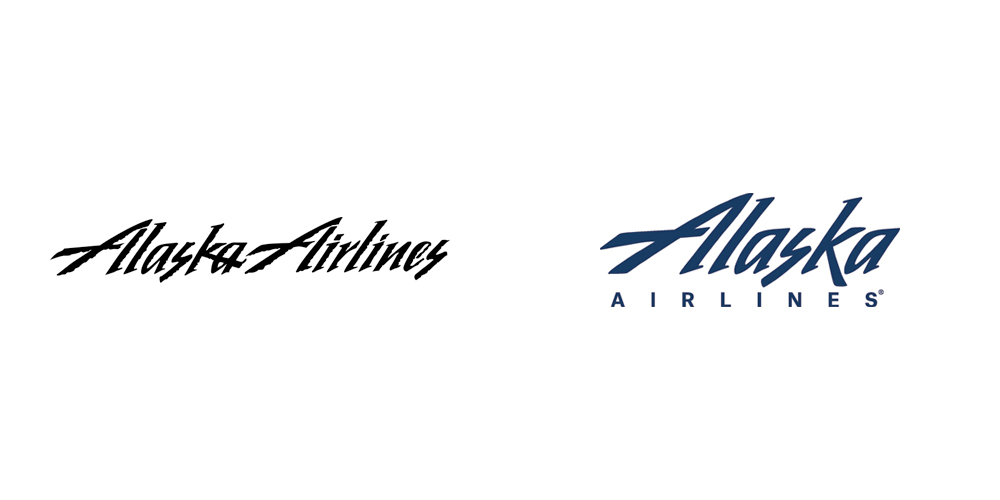 alaska airlines old and new logo