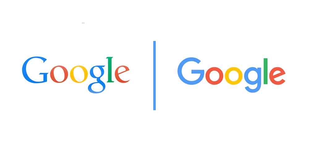 google old and new logo 2015