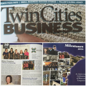 Allee Creative in TC Business Magazine